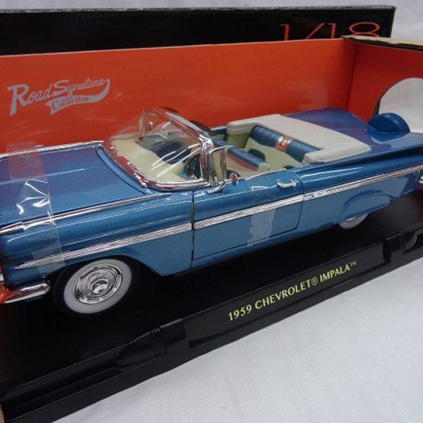 Chevrolet Impala Convertible 1959 Blauw 1-18 Lucky Diecast