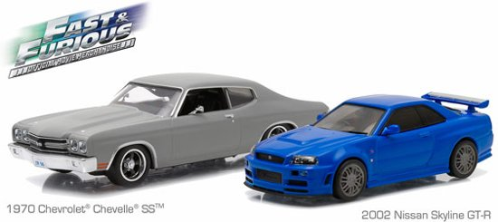 The Fast And The Furious Nissan Skyline R34 GT-R & Chevrolet Chevelle SS 1:43
