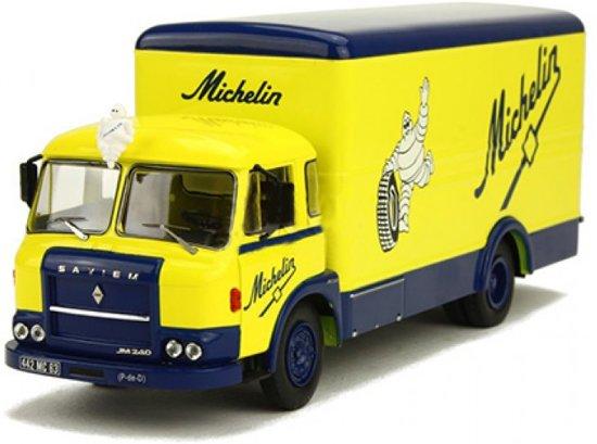 Saviem JM 21/240 Michelin 1:43 Blauw/Geel Ixo models