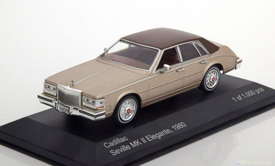 Cadillac Seville MK II Elegante 1980 Bruin Metallic 1-43 Whitebox Limited 1000 Pieces