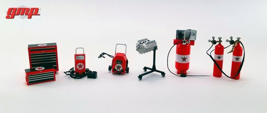 "Garage Accessory Set ""Texaco"" 1:18 GMP"