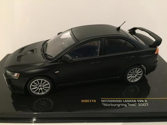 """Mitsubishi Lancer Evo X """"Nurburgring """"Test 2007 Mat Zwart 1-43 Ixo Models"""
