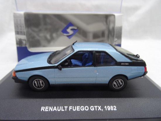 Renault Fuego GTX 1982 Blauw 1-43 Solido