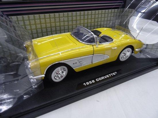 Chevrolet Corvette Convertible 1958 Geel 1:18 Motormax