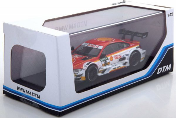 BMW M4 No.15, DTM 2017 Farfus 1-43 Wit/Rood Herpa