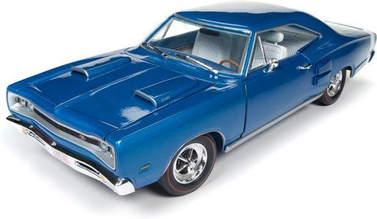 Dodge Coronet R/T 1969 Blauw Metallic 1:18 Ertl Autoworld Limited 1002 pcs.