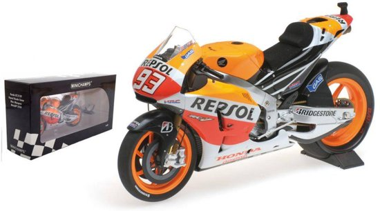 "Honda RC 213V Moto GP 2014 World Champion ""Repsol""Marc Marquez 1-12 Minichamps"