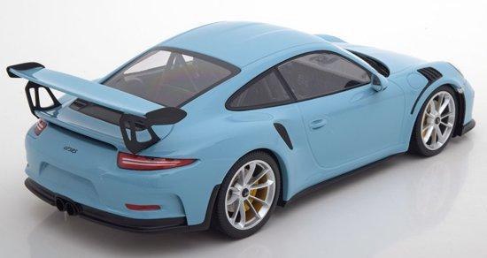 Porsche 911 (991) GT3 RS 2015 Lichtblauw 1-18 Minichamps Limited 222 pcs.
