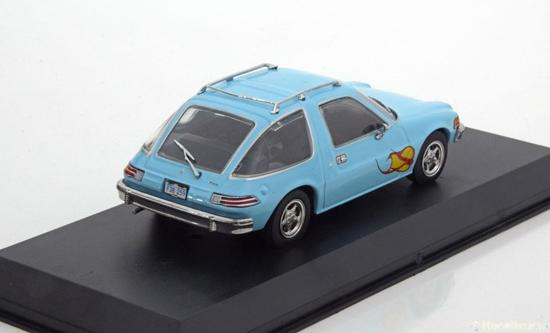 AMC Pacer Light blue with flames