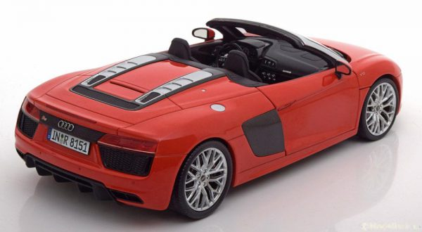 Audi R8 Spyder V10 2016 Red 1-18 I-Scale ( Metaal )