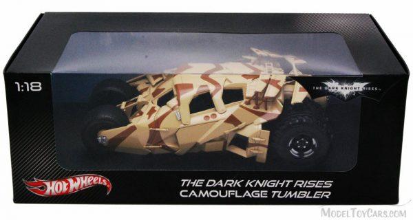 "Batmobile Camoufkage Tumbler ""The Dark Knight Rises"" 1:18 Hotwheels"