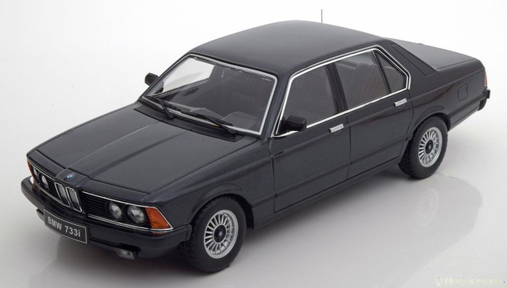 BMW 733i E23 1977 Zwart Metallic 1-18 KK Scale Limited 1000 Pieces