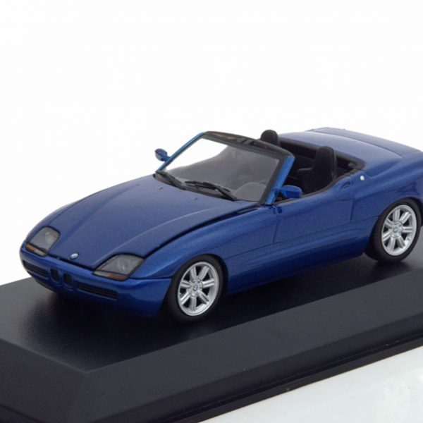 BMW Z1 ( E30 ) 1991 Cabriolet Blauw Metallic 1-43 Maxichamps