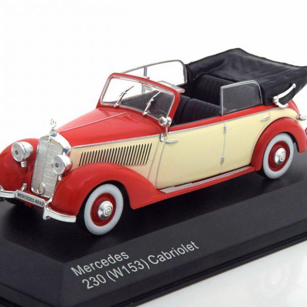 Mercedes-Benz 230 ( W153 ) Rood / Beige 1-43 Whitebox Limited 1000 Pieces