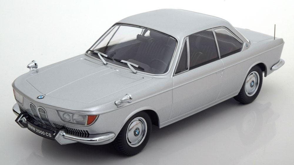 BMW 2000 CS Coupe 1965 Zilver 1/18 KK Scale Limited Edition 1000 pcs