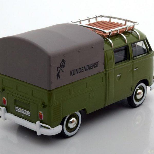 Volkswagen Bus Pickup Huif Type 2 T1 Groen 1:24 MotorMax