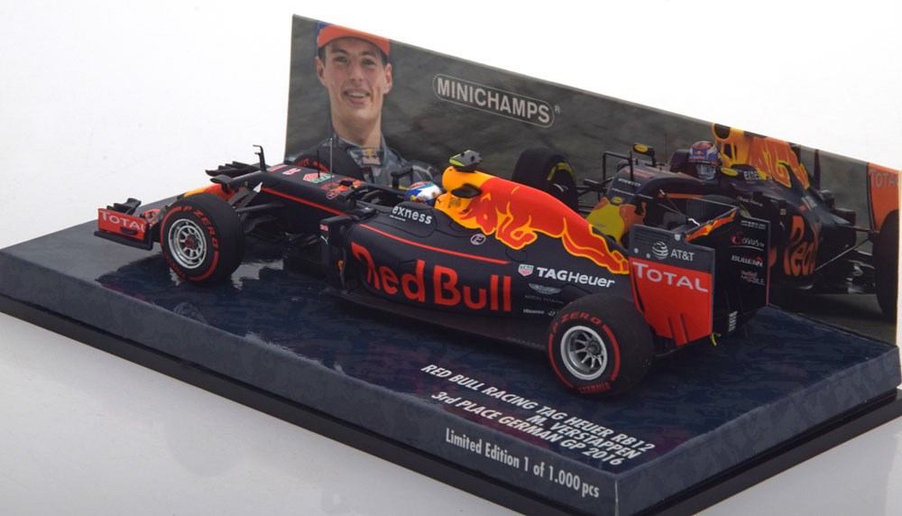 Red Bull TAG Heuer RB12 Germany GP 2016 Max Verstappen 1-43 Minichamps Limited 1000 Pieces