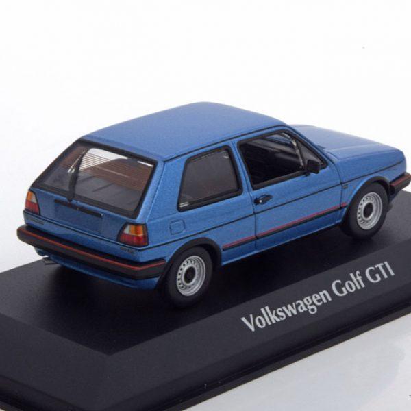 Volkswagen Golf II GTi 1985 Blauw Metallic 1-43 Maxichamps