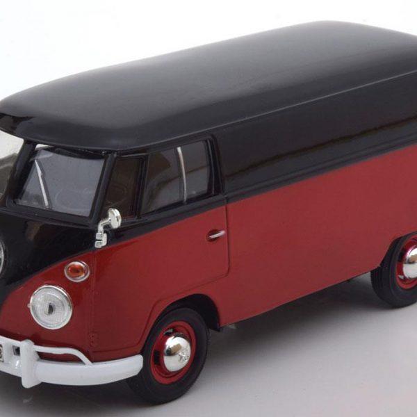 Volkswagen Type 2 T1 Delivery Van - Rood/Zwart -1-24 -Motormax