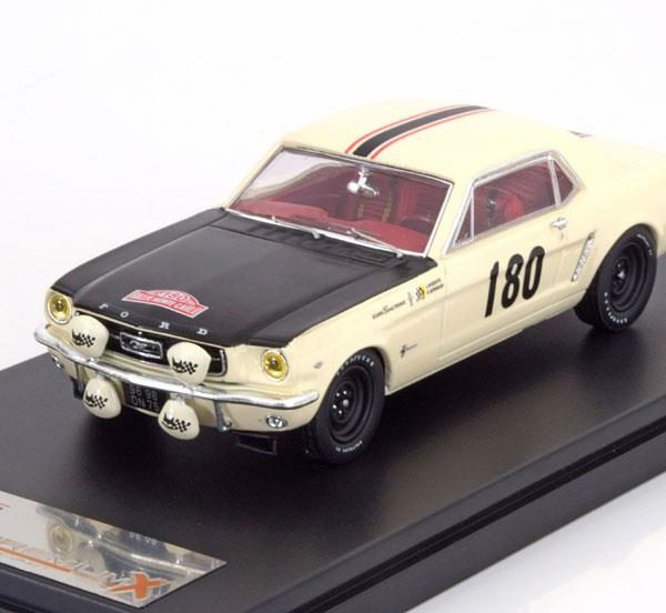 Ford Mustang #180 Geminiani/Anquetil Rallye Monte Carlo 1965 Wit 1-43 PremiumX