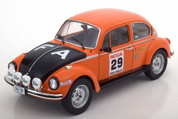 Volkswagen Kever 1303 No.29, SCCA Rally Series 1973 Oranje 1-18 Solido