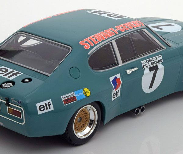Ford Capri RS 2600 No.7, 6h Paul Ricard 1972 Stewert/Cevert 1-18 Minichamps Limited 450 Pieces