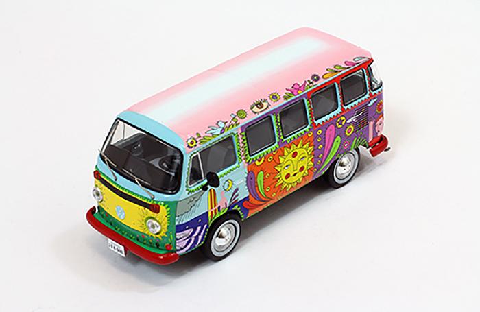 """Volkswagen T2 Kombi """"Hippie"""" 1976 PremiumX 1-43 Limited Edition"""