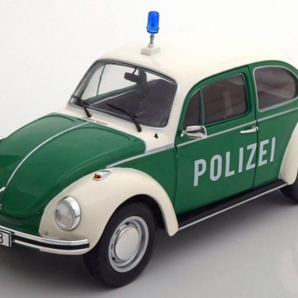 """Volkswagen Kever 1303 """"Polizei"""" Groen / Wit Solido 1:18"""
