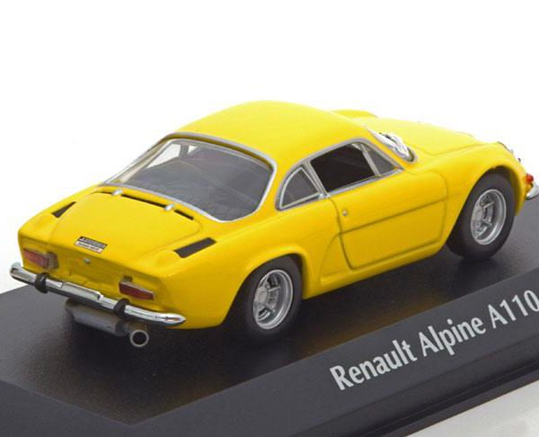 Renault Alpine A110 1971 Geel 1-43 Maxichamps
