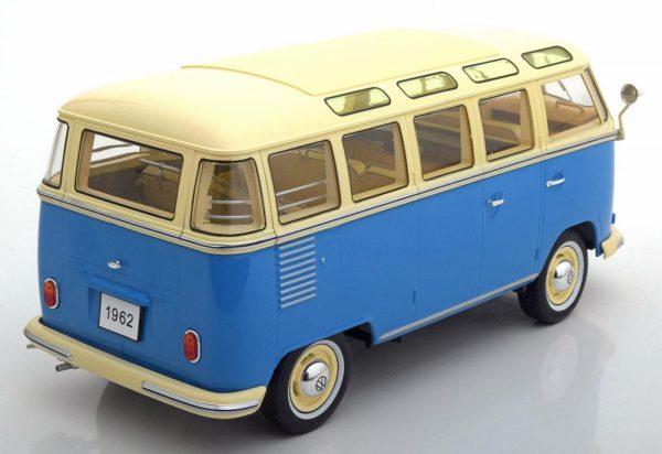 Volkswagen Bulli T1 Samba Bus 1-18 KK Scale Blauw / Creme Limited 750 Pieces