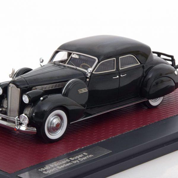 Packard Super 8 Sport Sedan 1940 by Darrin Donkergroen 1-43 Matrix Scale Models Lim 299 Pcs