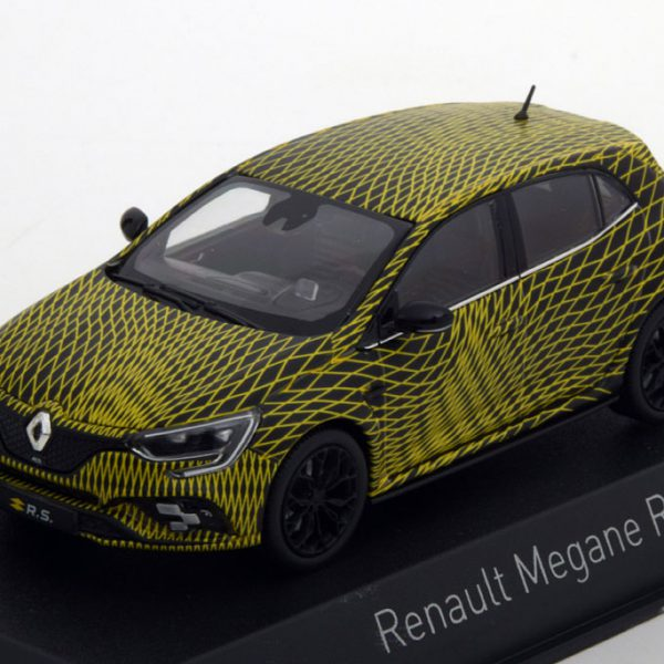 Renault Megane RS Test Version GP Monaco 2017 1:43 Geel/Zwart Norev