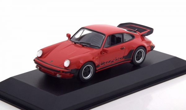 Porsche 911 (930) Turbo 3.3 Rood 1-43 Maxichamps