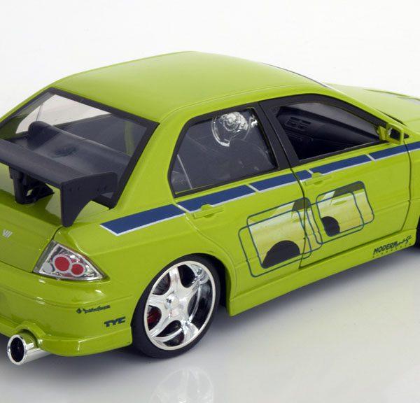 "Mitsubishi Lancer Evo VI Brian ""Fast and the Furious ""1-24 Groen Jada Toys"