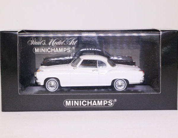 Borgward Isabella Coupe 1959 Wit 1:43 Minichamps Limited 2496 pcs.