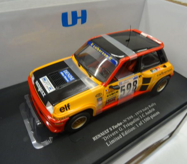 Renault 5 Turbo 2 Rally Monte Carlo #20 1981 Drivers: G.Fréquelin/J.C. Andrié - Limited Oranje 1-18 Universal Hobbies Limited 1500 pcs.