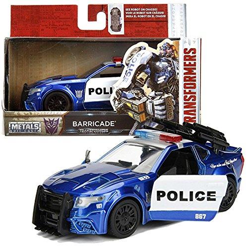 "Barricade 'The Last Knight"" Custom Police Car 1/24 Jadatoys Transformers"