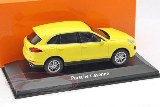 Porsche Cayenne 2013 Geel Maxichamps 1/43