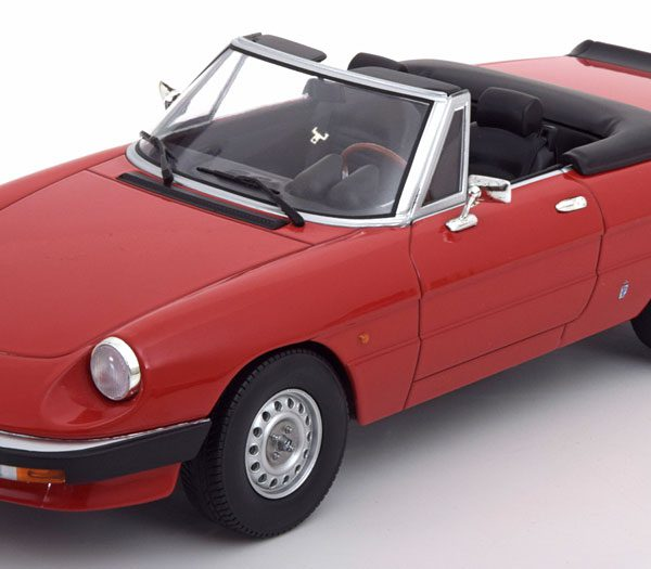 Alfa Romeo Spider 3 Serie 1 1983 Rood 1-18 KK Scale Limited 1250 Pieces