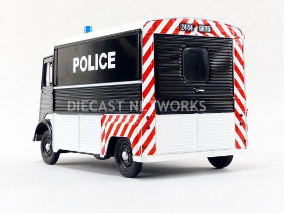 Citroen HY 1969 Police Zwart / Wit 1-18 Solido