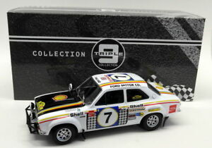 Ford Escort MK 1 RS 1600 #7 1971 Safari Rally H.Mikkola/G.Palm 1-18 Triple 9 Collection