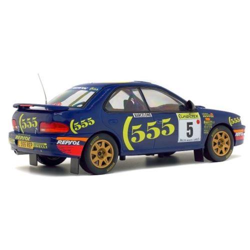 Subaru Impreza #5 Rally Monte Carlo 1995 1/18 Blauw Solido