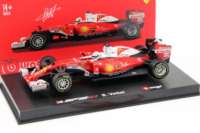 Bburago 18-36804 # Ferrari SF16-H No.5 Formel 1 2016 Sebastian Vettel 1:43 NEU