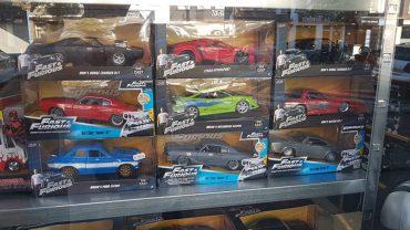 Fast en Furious Etalage bij Schuiten Autominiaturen