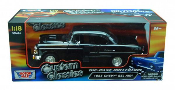"Chevrolet Bel Air 1955 ""Custom Classics "" Zwart 1-18 Motormax"
