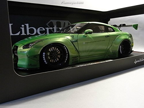 "Nissan Skyline GT-R (R35) ""Liberty Walk"" LB Works ( Pearl Green) 1-18 Ignition Model"