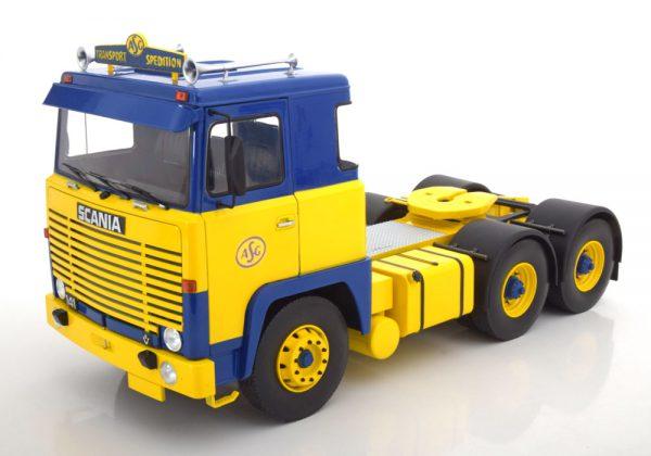 Scania LBT 141 ASG 1976 Blauw / Geel 1-18 Road Kings