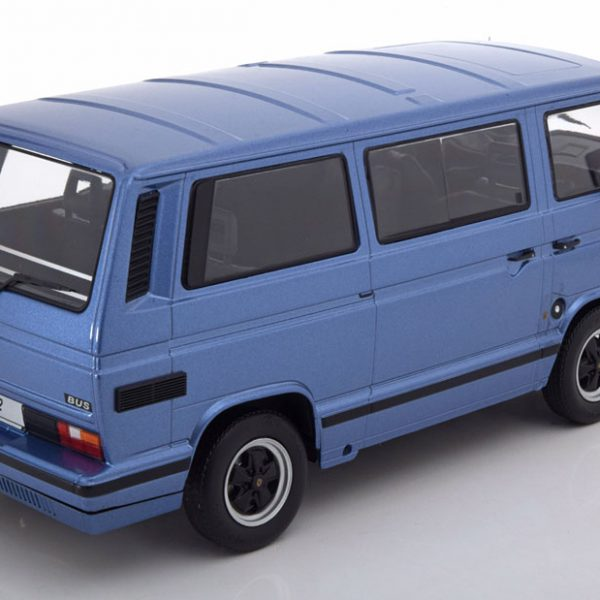 Volkswagen T3 Bus B32 Porsche 1984 Blauw Metallic 1-18 KK Scale Limited 500 Pieces