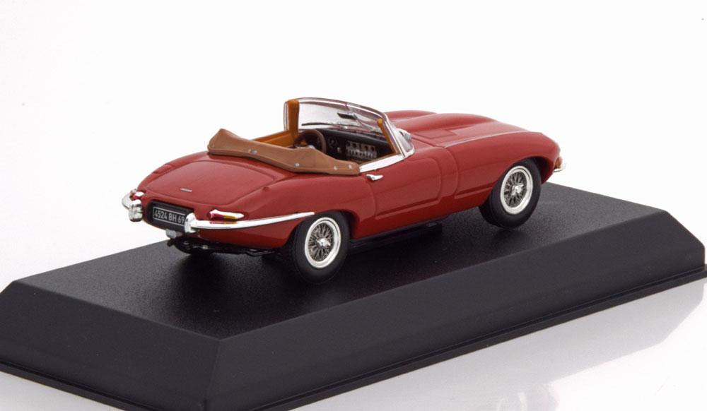 Jaguar E-Type Cabriolet 1961 Carmen Red 1:43 Norev