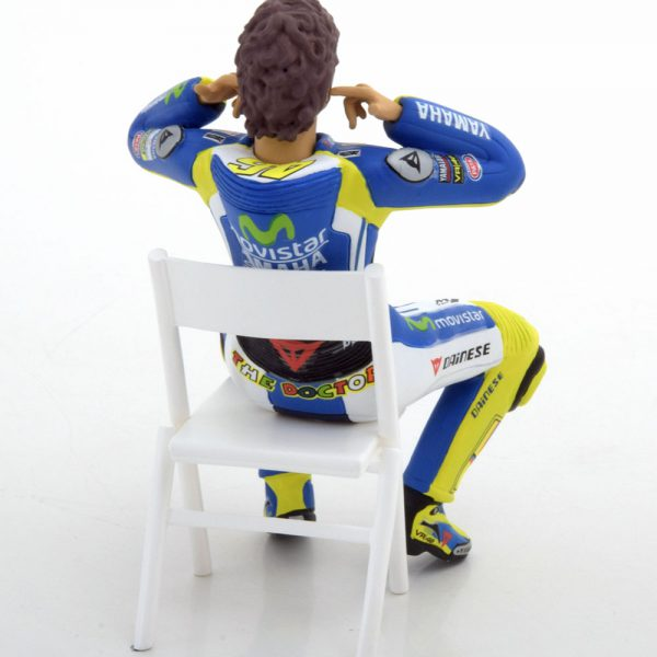 "Valentino Rossi Figuur Moto GP 2014 ""Checking the Ear Plugs"" 1-12 Minichamps Limited 750 Pieces"
